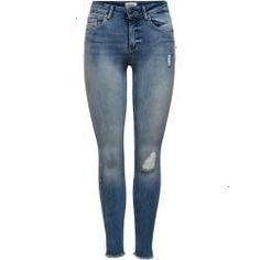 Only Damen Jeans-Hose Skinny Stretch-Jeans Slim Fit onlBlush Light Blue Denim