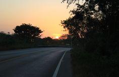 El primer amanecer de 2013 en nuestro viaje de Mérida a Peto