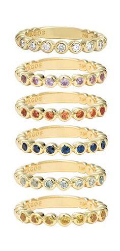 @lagosjewelry Covet 18k Gold Stacking Rings | #loveLAGOS