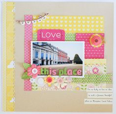 #papercraft #scrapbook #layout    Love this place (*Pebbles) by *paperandglue* at @Studio_Calico