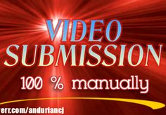 anduriancj: do the best manually submission for you on the most 35 high ranking visited VIDEO sharing sites only for $5, on fiverr.com