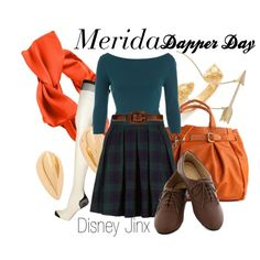 """Merida- Dapper Day"" kind of cute Disney Princess Outfits, Disney Dress Up, Disney Themed Outfits, Disney Clothes, Merida Outfit, Merida Brave Costume, Disney Cute, Brave Disney, Dapper Day Outfits"