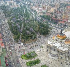 Bellas Artes y Alameda Central, Ciudad de México desde la Torre Latino.