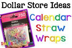 Calendar Straw Wraps