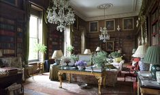 Badminton House, South Gloucestershire. The Library: The English Country House