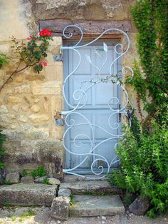 Blue Door With Blue Gate, Oppede le Vieux, France  2012 / by Marny Perry
