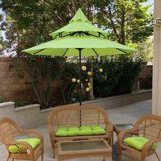 Shop Maypex 9 Feet Pagoda Market Umbrella - On Sale - Overstock - 24014994 - Lime Green Best Outdoor Furniture, Deck Furniture, Pagoda Patio, Best Patio Umbrella, Outdoor Patio Umbrellas, Outdoor Umbrella, Pagoda Umbrella, Outdoor Dining Set, Outdoor Decor