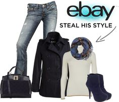 """""""Rock Menswear Like a Lady with eBay"""" by casuality on Polyvore"""