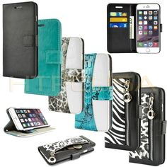 Luxury Leather Card Wallet Flip Case Cover for Apple iPhone 6 / iPhone 6 Plus #Apple