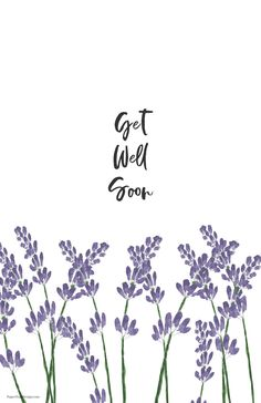 Use this get well soon card image of purple lavender flowers with a get well soon message for a budget friendly greeting card. Fun Arts And Crafts, Arts And Crafts Projects, Easy Diy Crafts, Printable Crafts, Printable Paper, Free Printables, Happy Birthday Cards, Birthday Greetings, School Coloring Pages