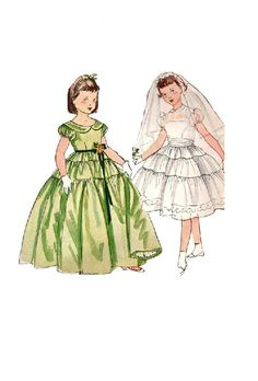Simplicity 4135 Sewing Pattern 1950s Girls by AdeleBeeAnnPatterns