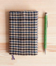diy plaid book jacket #diy #howto #notebook