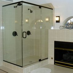 Delta Glass Houston Tx Features Oil Rubbed Bronze Channels And C Pull Photo Courtesy Of Jack S Glass I Frameless Shower Doors Glass Shower Glass Shower Doors