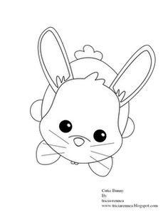 bunny by tricia rennea bunny coloring pagesembroidery