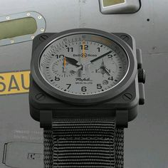 """""""Take flight with this Bell & Ross watch! #bellross #bellrosswatches #military #aviation #divers #pilots  #watches"""" Photo taken by @providentjewelry on Instagram, pinned via the InstaPin iOS App! http://www.instapinapp.com (09/01/2015)"""