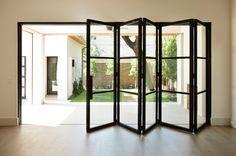 Millennium Line - Durango Doors Acordian Doors, Bi Fold Doors Internal, Design Hotel, House Design, Glass And Aluminium, Aluminium Alloy, Folding Doors, Sliding Glass Door, Glass Doors