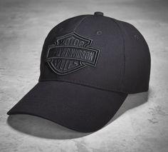 A stealthy men's baseball cap. #ValentinesDay | Harley-Davidson Men's Phantom Logo Cap #harleydavidsonboots