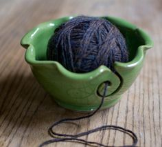 yarn bowl by redhotpottery on etsy!     newly knit obsessed.