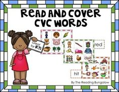 Read and Cover CVC Word Blending Practice {Freebie}