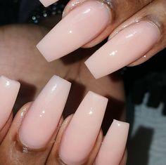|•| Nails |•| •Flush Pink •Glossy Nails • •Ballerina Coffin Shape x