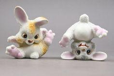 Vintage Ceramic Funny Bunnies Sugar Crusted by AuntHattiesAttic