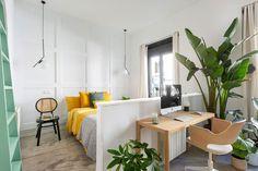 〚 Kingdom of colors: bright apartment in Madrid (75 sqm) 〛 ◾ Photos ◾ Ideas ◾ Design #white #bedroom #interiordesign #Homedecor #interior #decor #ideas #inspiration #tips #cozy #living #style #space Bright Apartment, Madrid, Interior Design, Inspiration, Cozy Living, White Bedroom, Furniture, Spain, Decor Ideas