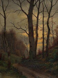 Eduard Hein - Jeseň v lese  zoom obrázku datovanie:1890–1910 rozmer:výška 39.2 cm, šírka 29.0 cm  výtvarný druh:maliarstvo › obraz závesný žáner:krajina