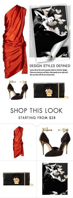 """Satin Dress"" by tsma ❤ liked on Polyvore featuring Vivienne Westwood Gold Label, Oscar de la Renta, Dolce&Gabbana and Dovima"