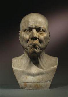 """Franz Xaver Messerschmidt, Ein starker Arbeiter (""""Charakterkopf"""" Nr. 40), 1770/1783, Gipsalabaster, H: 42 cm, Belvedere, Wien, Inv.-Nr. 2285"""