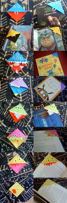 die besten 25 monster lesezeichen ideen auf pinterest origami lesezeichen eck lesezeichen. Black Bedroom Furniture Sets. Home Design Ideas