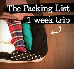 From Head To Toe: TRAVEL TIPS: Packing List for a 1-Week Trip