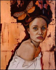 Stephanie Liebetrau Art, Girl with Cape Venus Moth