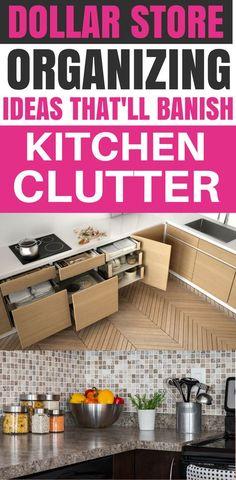 Kitchen Organization Dollar Store, Cheap Organization Ideas For The Home