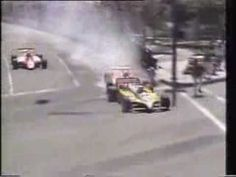 1982-Long Beach-Accidente entre Bruno Giacomelli y René Arnoux