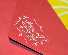Custom Hand Addressed Envelopes--Southern Style. $0.85, via Etsy.