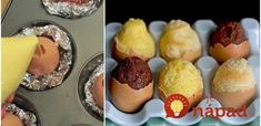 Pripravte na veľkonočný stôl skutočne originálne pohostenie. Nadýchané mini-koláčiky upečené vo vaječných šrupinkách.