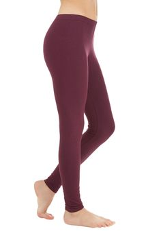 Simple and Sleek Leggings in Burgundy. No wardrobe is complete without a bevy of versatile basics - thats why these burgundy high-waisted leggings always make their way into your daily ensembles! #red #modcloth