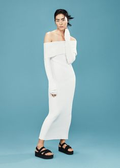 MANGO Ribbed Long Dress, $39.99 | 39 Long Sleeve Dresses For Women Whose Arms Are Always Cold