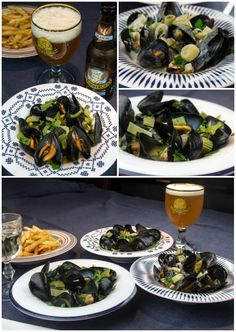 μύδια αχνιοστά μαρινιέρ με Grimbergen Blanche Seven Fishes, Mussels, Japchae, Cooking, Ethnic Recipes, Drink, Food, Kitchen, Beverage