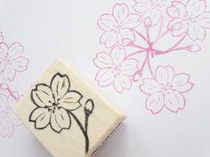 Cherry blossom stamp DIY wedding stamp by JapaneseRubberStamps, £6.00