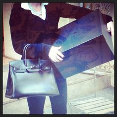 Hello everybody XX #hermes  #SoBlack #birkin #les3marches - @les3marchesdecatherineb- #webstagram