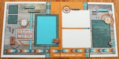 Two page Outdoor Camping Scrapbooking Layout Timberline CTMH Cricut Artbooking #ctmh #cricut #scraptabulousdesigns