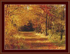 Autumn Cross Stitch Pattern