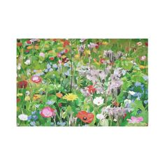 Colorful Flower Garden Floral Landscape Cotton Linen Wall Tapestry 90
