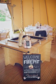 Welcome to our Fire Pit - Sami Tipi Wedding captured by Shoot it Momma