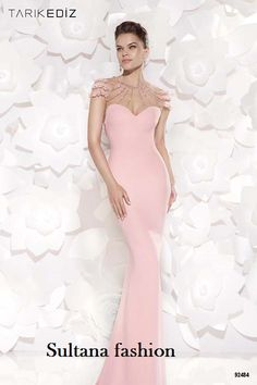 2e5e4e578dbe 2015 Light Pink Prom Dresses Tarik Ediz Sheer Sweetheart Neckline Backless  Mermaid Style Evening Party Gowns Custom Made Celebrity Dress. Sultana  Fashion