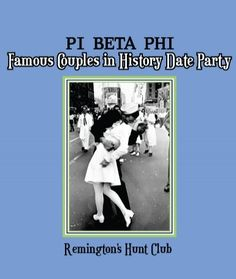 """Pi Beta Phi """"Famous Couple in History Date Party"""" #piphi #pibetaphi"""