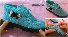 Crochet Baby Shoes, Crochet Slippers, Flip Flop Sandals, Shoes Sandals, Crochet Sandals, Crochet Basics, Fingerless Gloves, Baby Knitting, Arm Warmers
