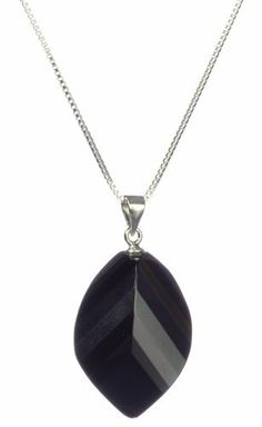 """Sterling Silver Box Chain Black Onyx Pendant Necklace , 18"""" Amazon Curated Collection. $44.00. The natural properties and composition of mined gemstones define the unique beauty of each piece. The image may show slight differences to the actual stone in color and texture.. Gemstones may have been treated to improve their appearance or durability and may require special care. The natural properties and composition of mined gemstones define the unique beauty of each piece..."""