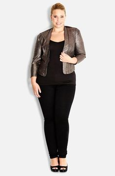 City Chic 'Glamour' Jacket (Plus Size) available at #Nordstrom